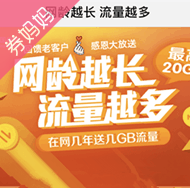 中国移动最高20G流量