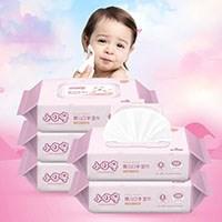 小叮咚婴儿手口湿巾80抽*5包