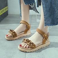 夏季韩版厚底松糕罗凉鞋