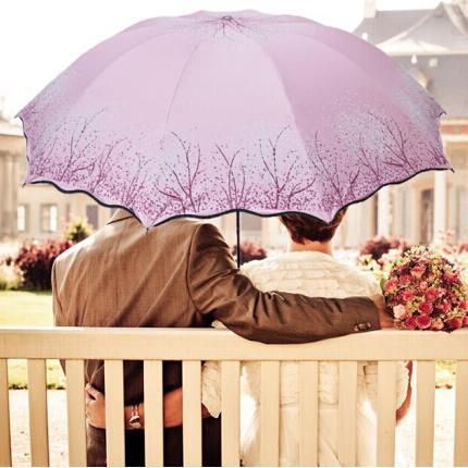 西湖加大三折晴雨伞