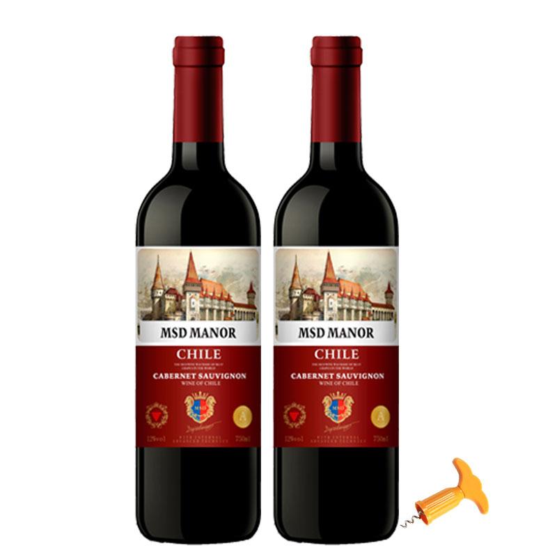 梅赛得智利原酒进口红葡萄酒2瓶