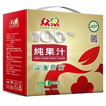 众果 100%纯苹果汁 1L*4盒