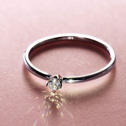 双11预售:钻石小鸟 18K金钻戒