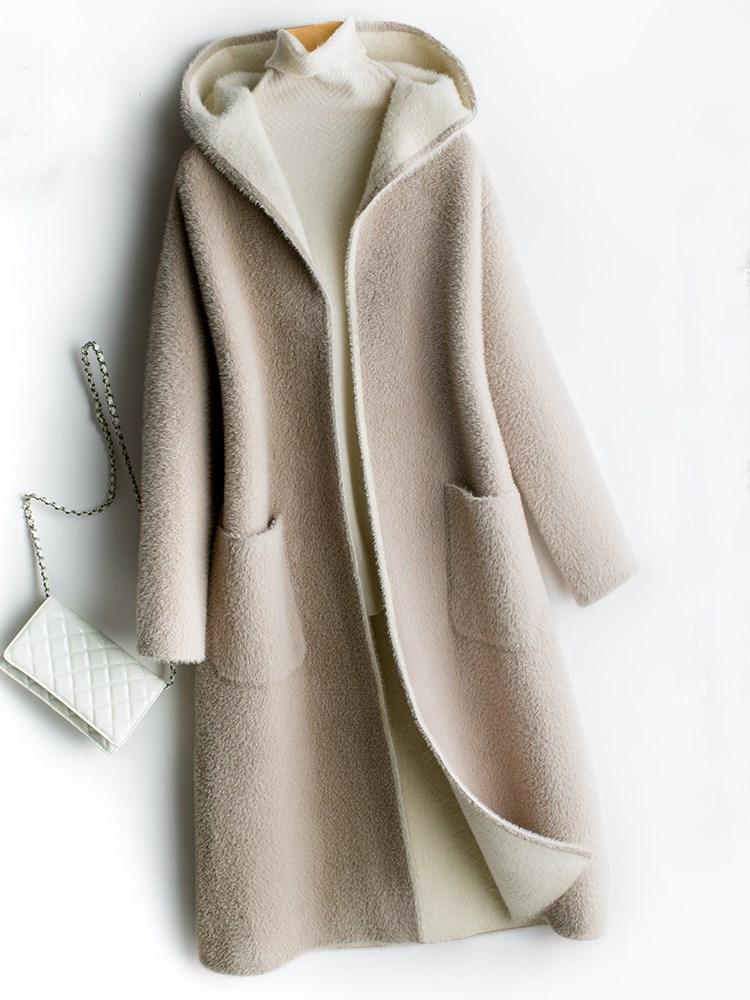 黄金貂双面呢大衣双面绒