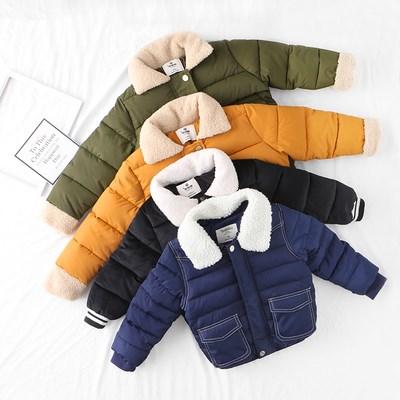 儿童短款加厚棉服外套
