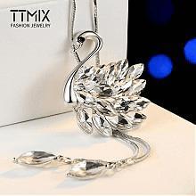 TTMIX水晶天鹅百搭毛衣链