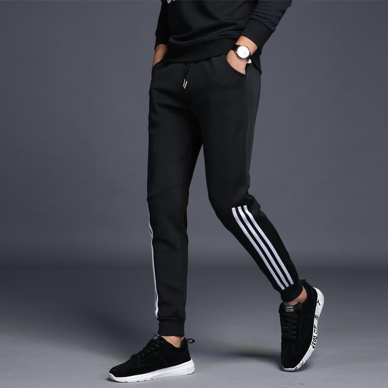 冬季男款保暖厚款运动长裤加绒