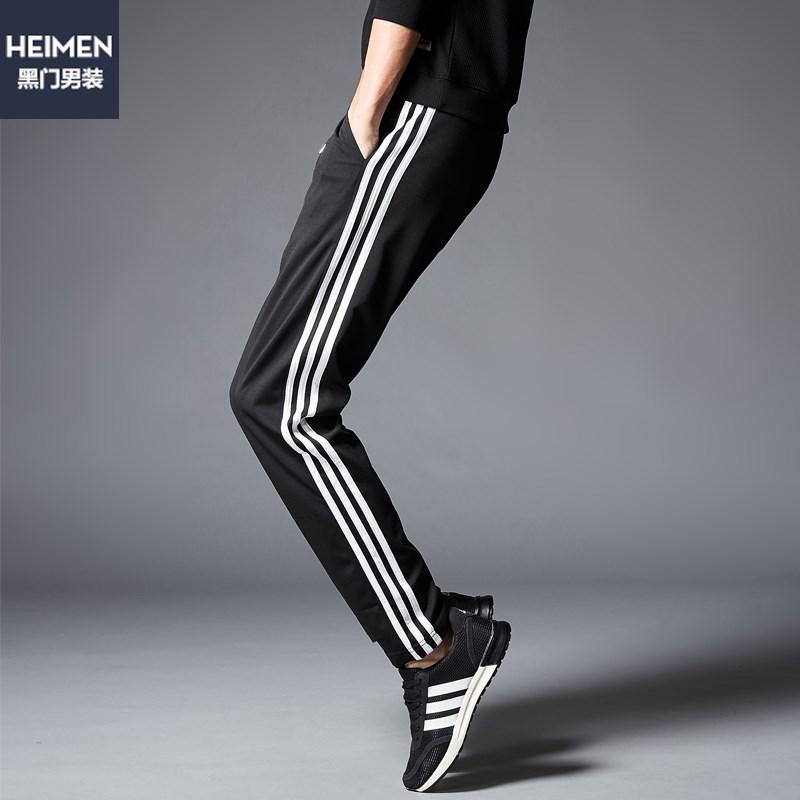 黑门阿迪达斯同款休闲裤
