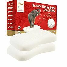 泰国天然乳胶护肩枕乳胶枕头2个