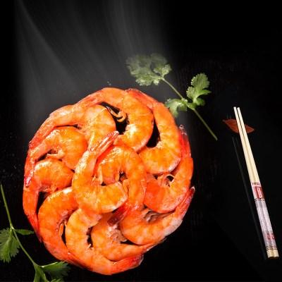 香滋来香辣对虾罐装虾球150g