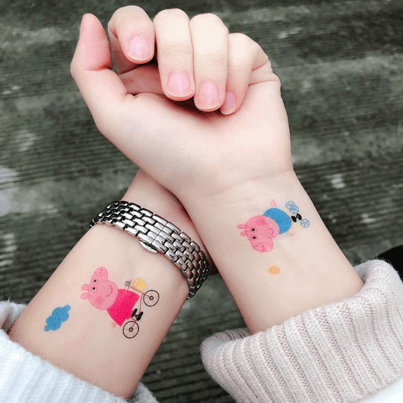 小猪佩奇社会纹身图