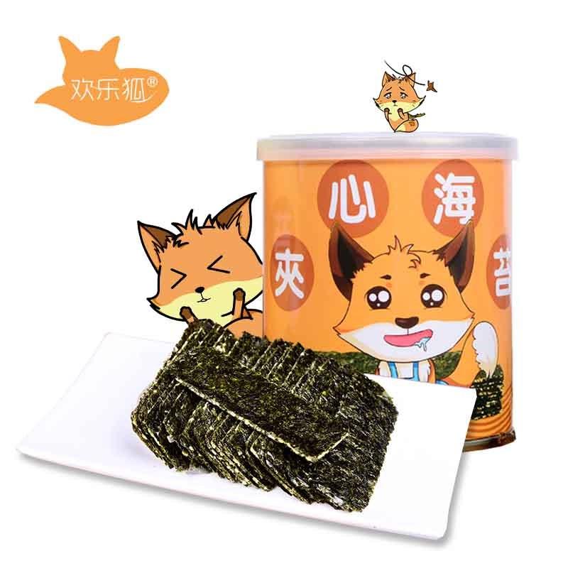 欢乐狐芝麻夹心海苔罐装40g