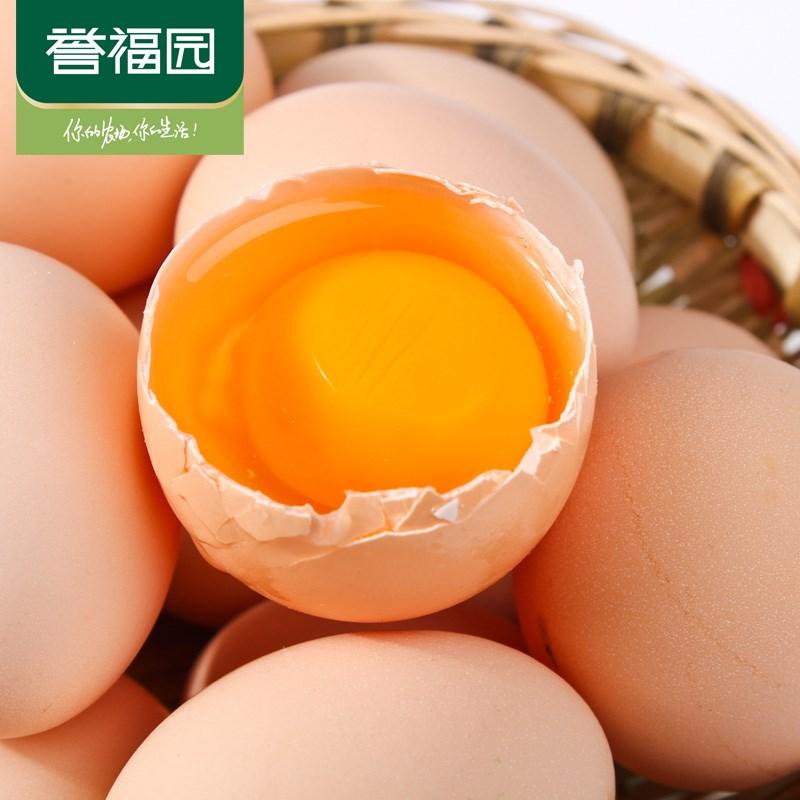 誉福园林下散养土鸡蛋30枚
