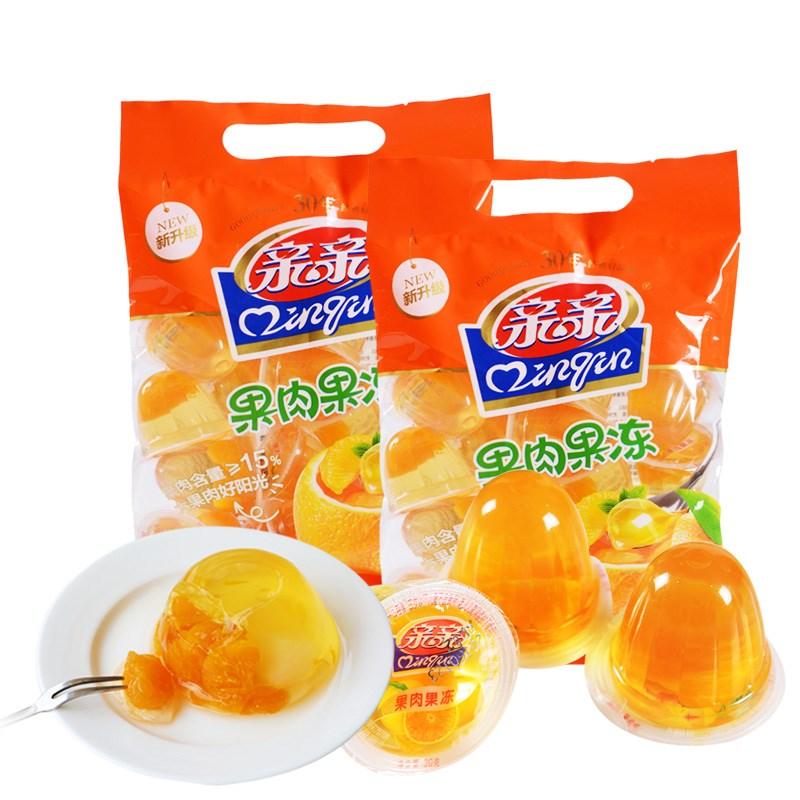【亲亲】果肉果冻450g*2袋