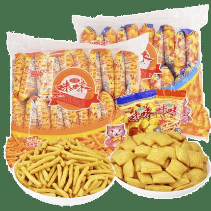 咪咪虾条蟹味粒大礼包40包共720g
