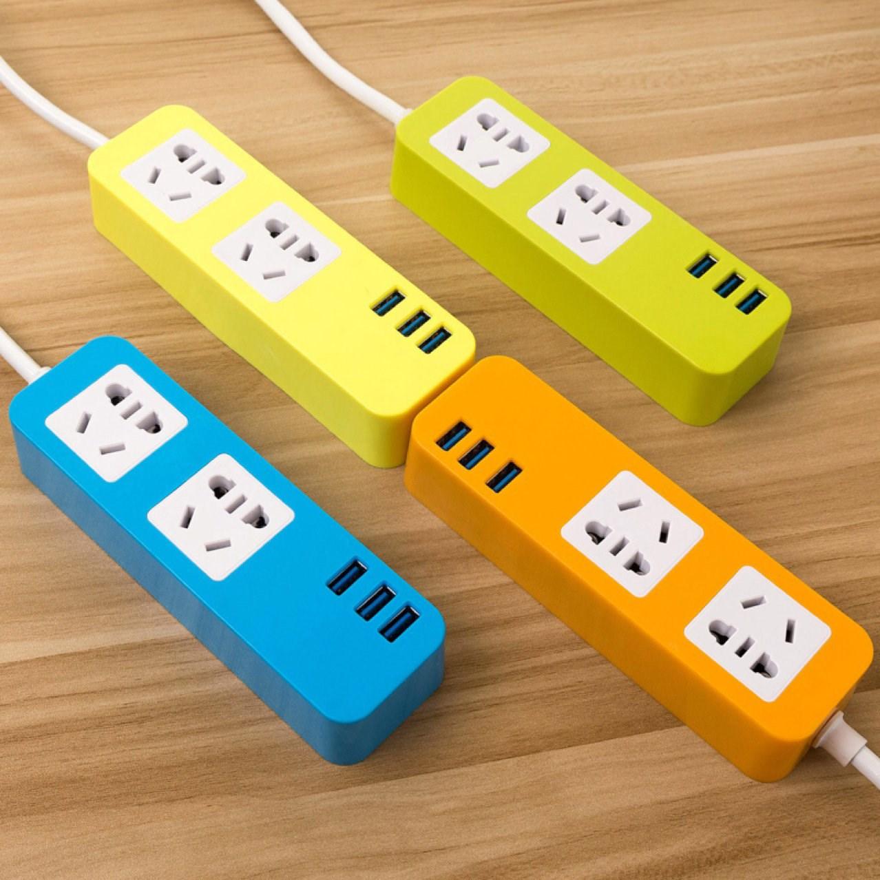 创意多功能插座带USB排插