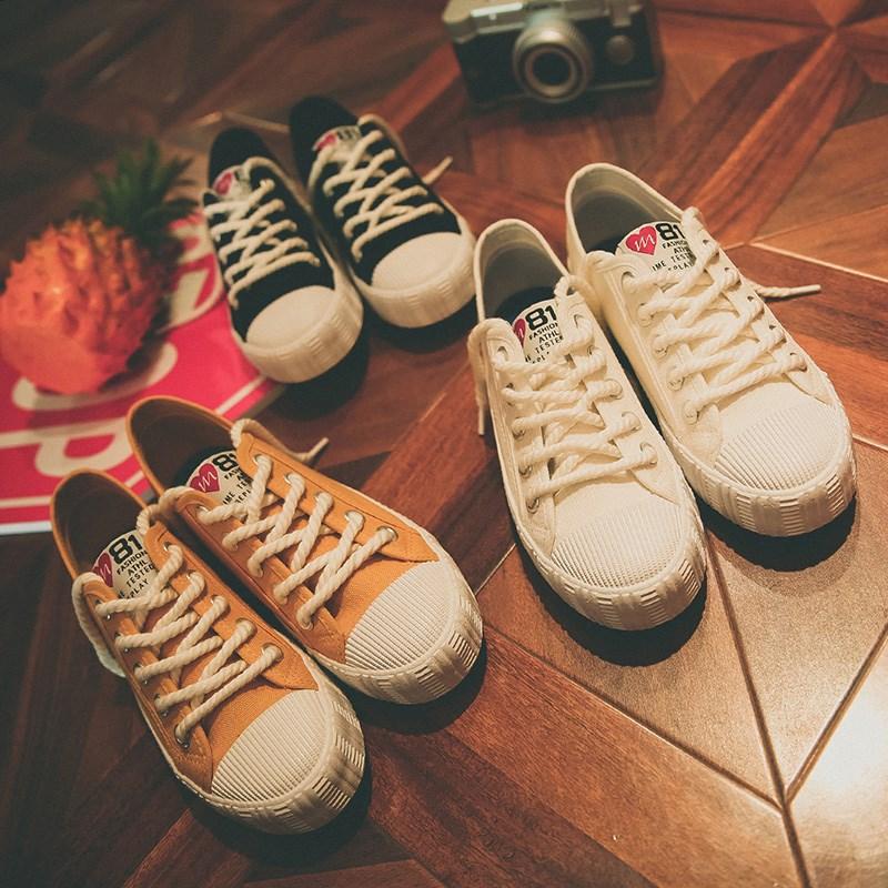 申马百搭帆布鞋女小白鞋休闲板鞋
