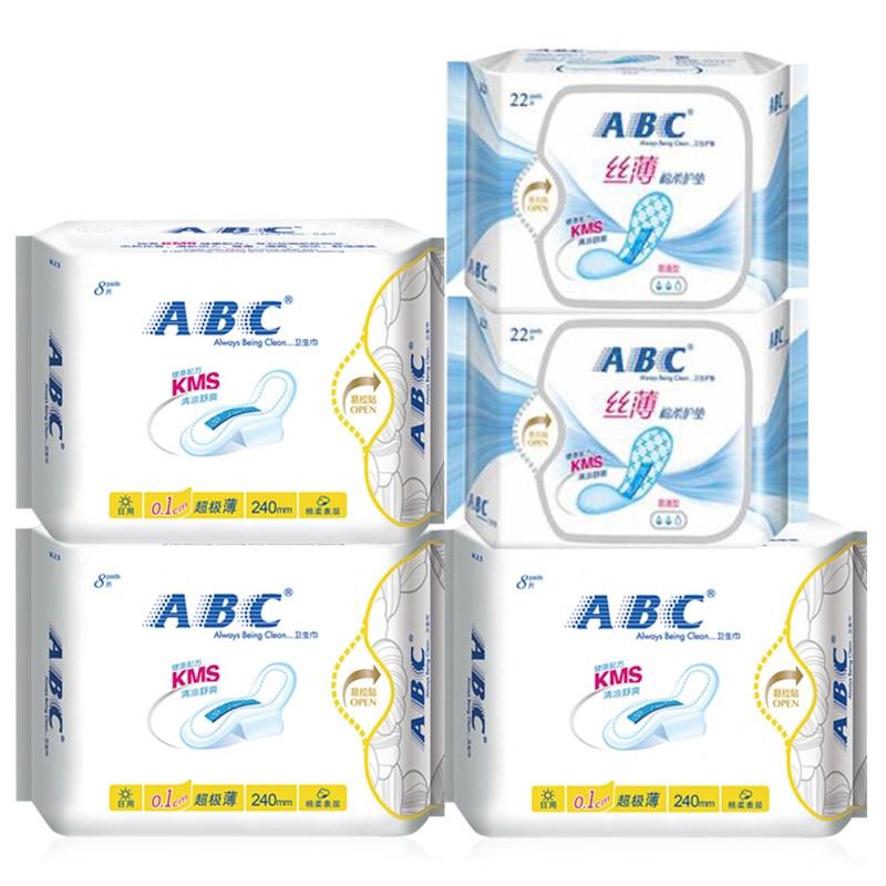 【ABC】卫生巾组合日用5包68片