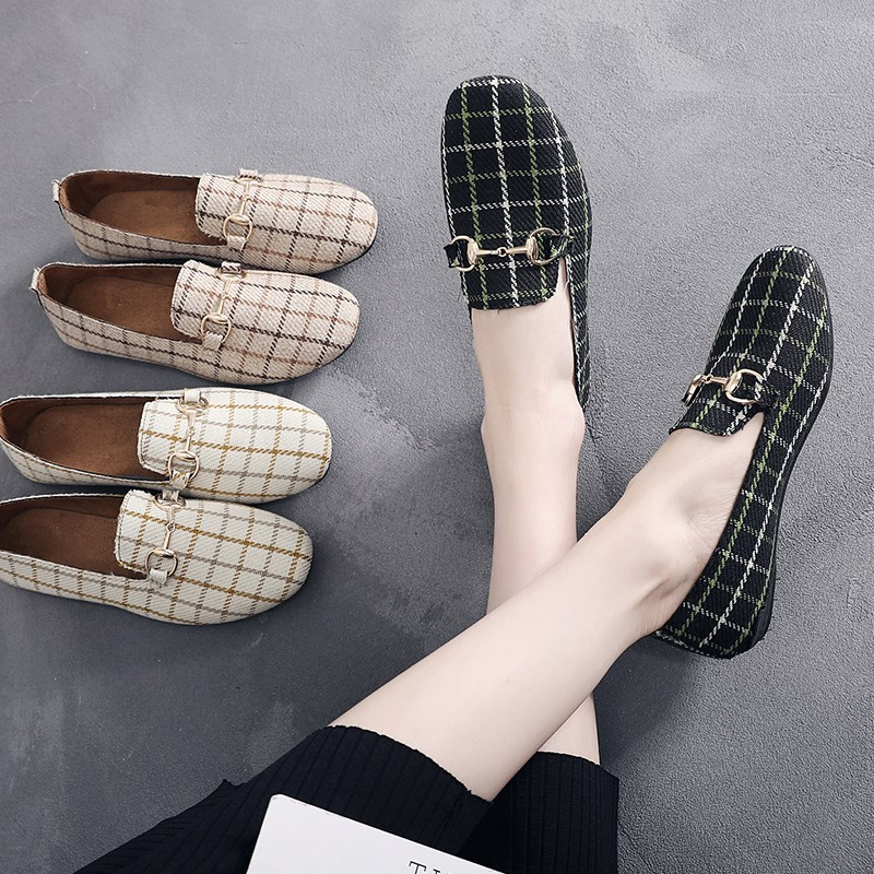 【老郑家】浅口平底豆豆鞋
