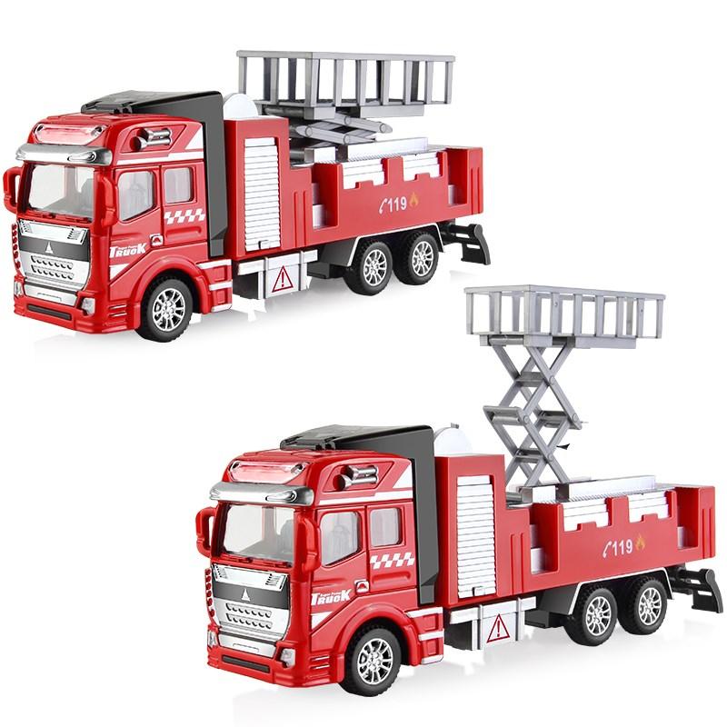 高质量玩具工程汽车消防车