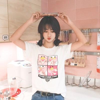 ulzzang夏纯棉百搭半袖T恤