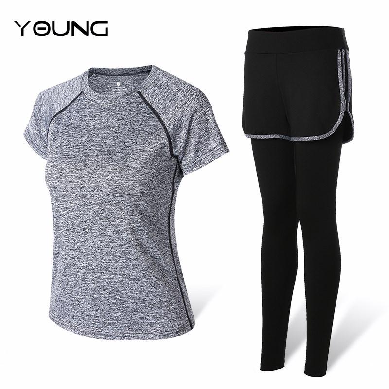夏季女款瑜伽服运动套装