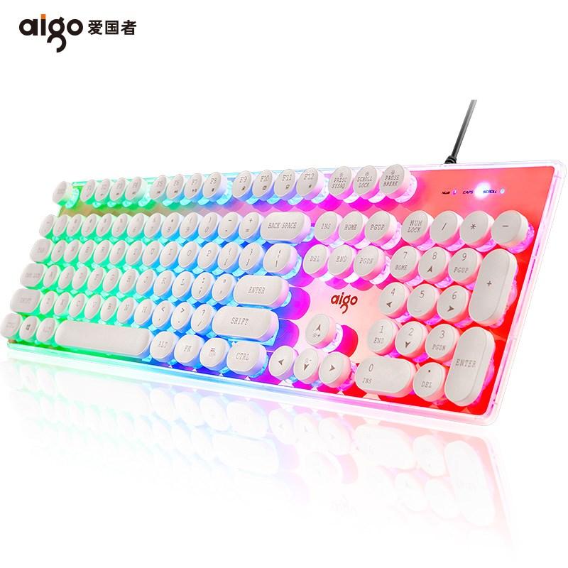 爱国者悬浮水晶键盘