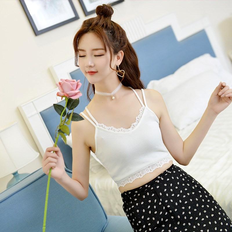 韩版打底蕾丝吊带衫