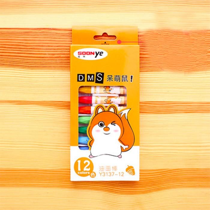 【众叶】油画棒儿童蜡笔12色