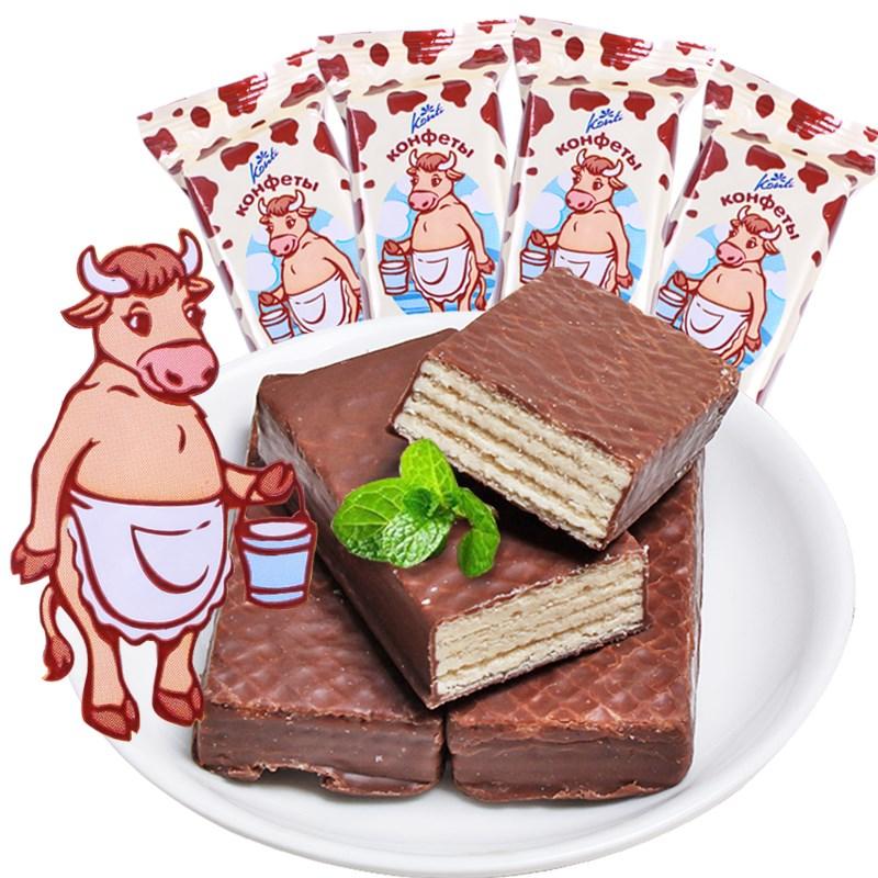 俄罗斯夹心巧克力威化饼干1斤