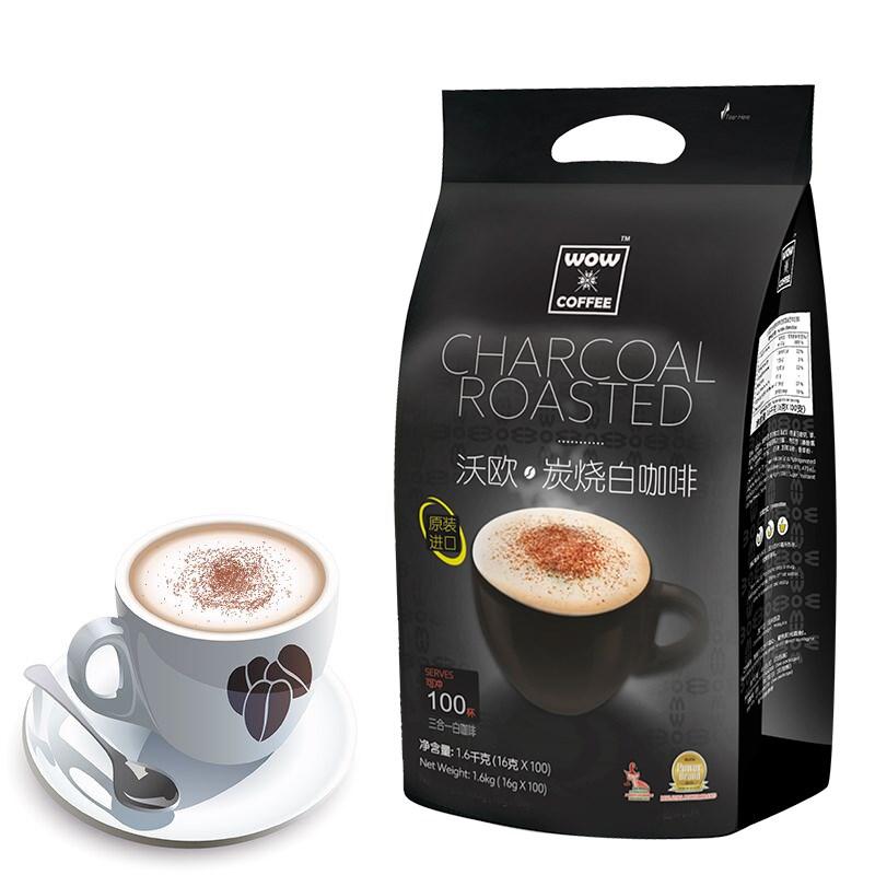 马来西亚进口速溶白咖啡16g*100条