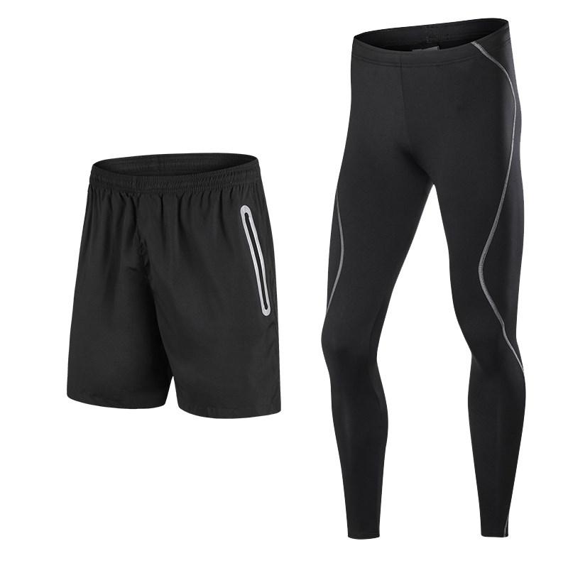 健身运动男紧身裤