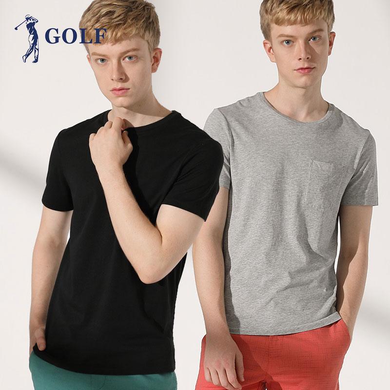 高尔夫男士纯色短袖T恤2件