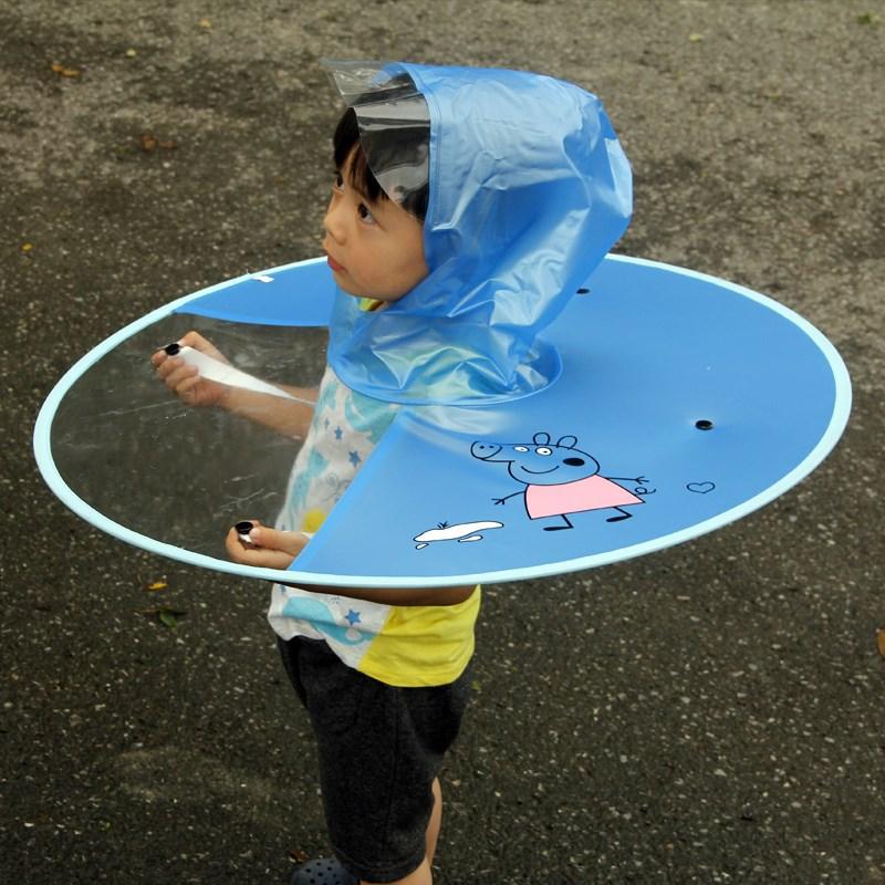 抖音爆款!儿童折叠飞碟雨衣