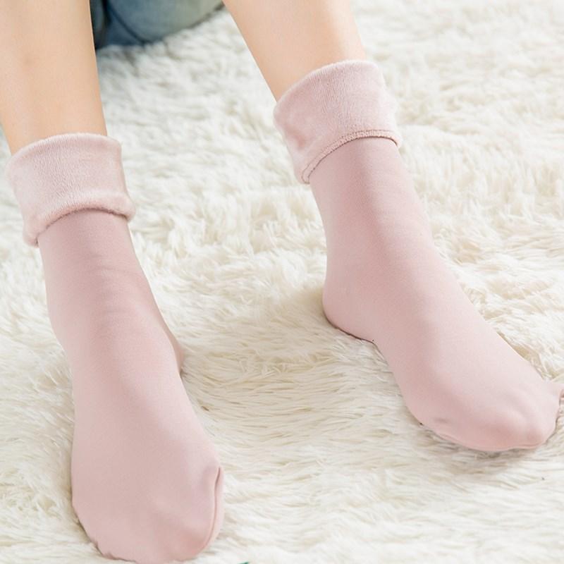 3双装加绒加厚中筒保暖地板袜
