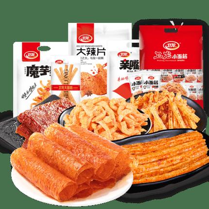 卫龙多口味辣条零食大礼包810g
