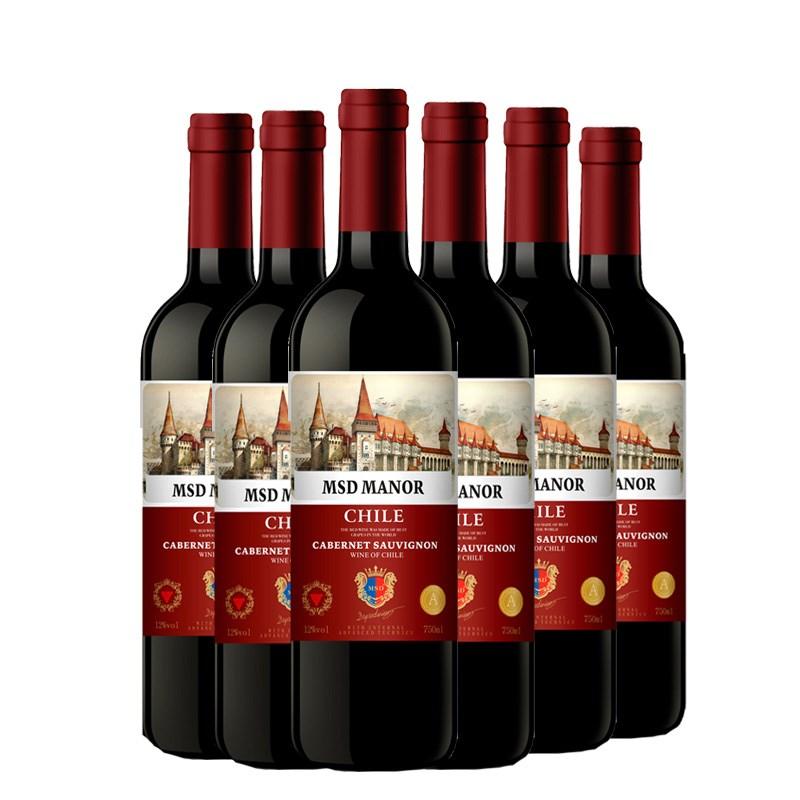 【梅赛得】干红葡萄酒整箱6支装