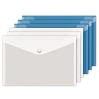 互信透明文件袋 A4 10个装