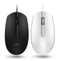 惠普 M10 有线鼠标 黑/白色