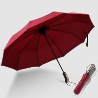 杰尼伦 全自动折叠雨伞 10骨