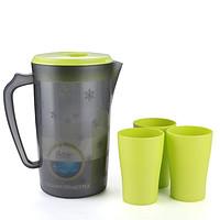 塑料冷水壶 雪花款 2.2L +3只杯