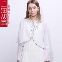 上海故事 女士雪紡斗篷披肩