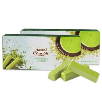 雀巢奇欧比抹茶巧克力100g*2盒
